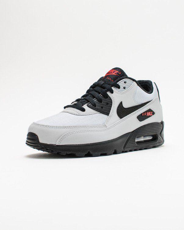 Nike AIR MAX 90 ESSENTIAL WOLF GREY/BLACK BLK UNVRSTY RD