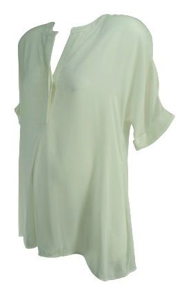 e679e411b7b5c *New* White A Pea in the Pod Maternity See-Through Tunic Maternity Blouse  (Size Small) - Motherhood Closet - Maternity Consignment