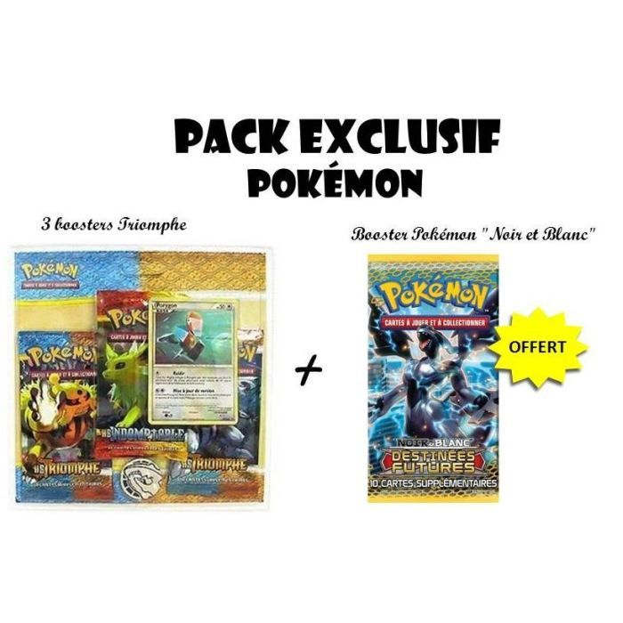 pokemon packs | Pack Exclu Cartes Pokémon + Booster N&B OFFERT - Achat / Vente carte ...