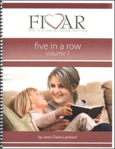 Buy the Five in a Row, volume 1 manual here. Our local library has it available in the children's reference section.