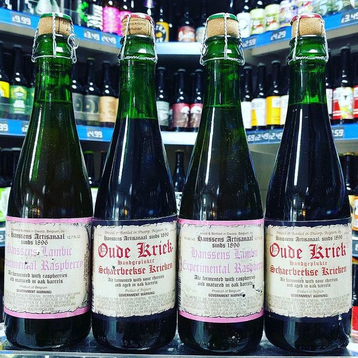Experimental Raspberry Lambic 6% & Oude Kriek 6% both Oak Barrel Aged from #hanssens available now