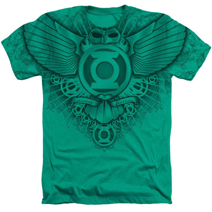 DC Comics Green Lantern Winged Logo T shirt 100% cotton pre-shrunk Kelly Green Available in SM, MD, LG, XL, 2X