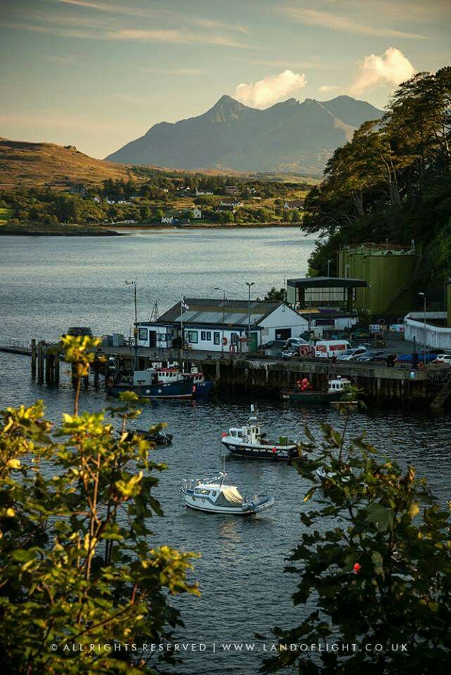 Skye Portree Harbor And Cuillins See Image For Copyright