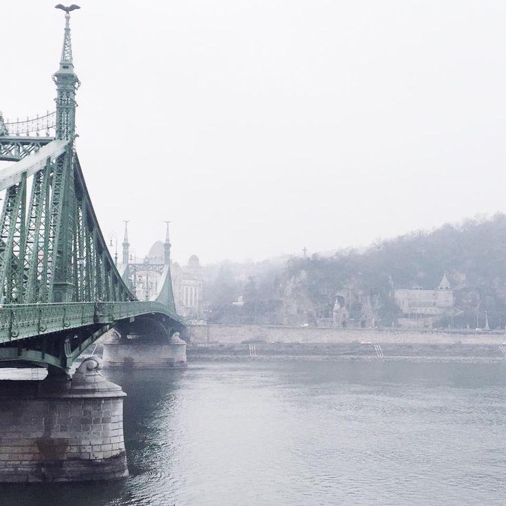 Liberty Bridge on a rainy day