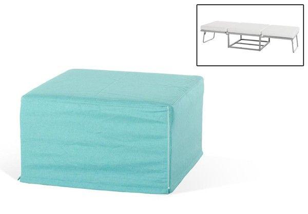 Vig Furniture - Divani Casa Incognito Modern Turquoise Fabric Ottoman Sofa Bed - VGIDJM007-GRN
