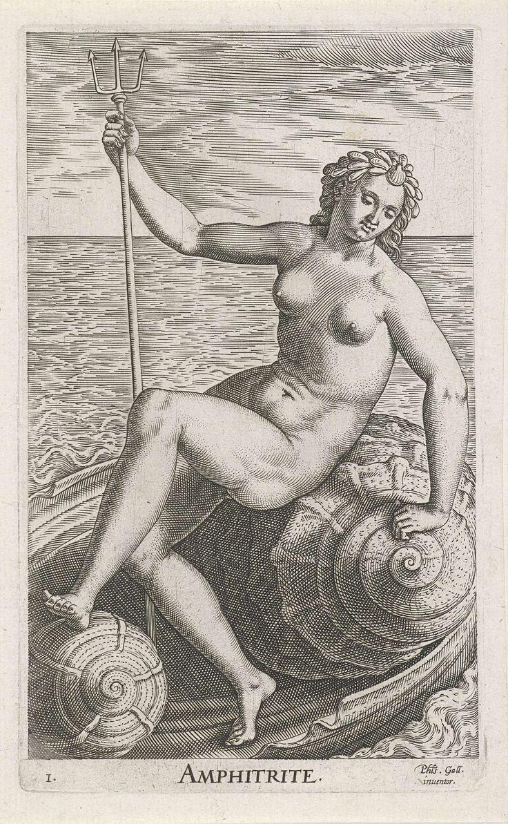 Zeegodin Amphitrite, Philips Galle, 1587