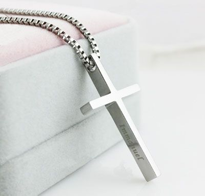 Large & Small Cross Pendants Necklaces for Women and Men