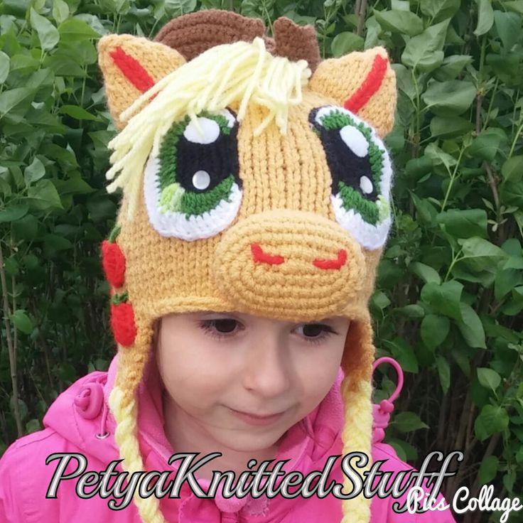 Applejack hat , My Little Pony hat by PetyaKnittedStuff on Etsy