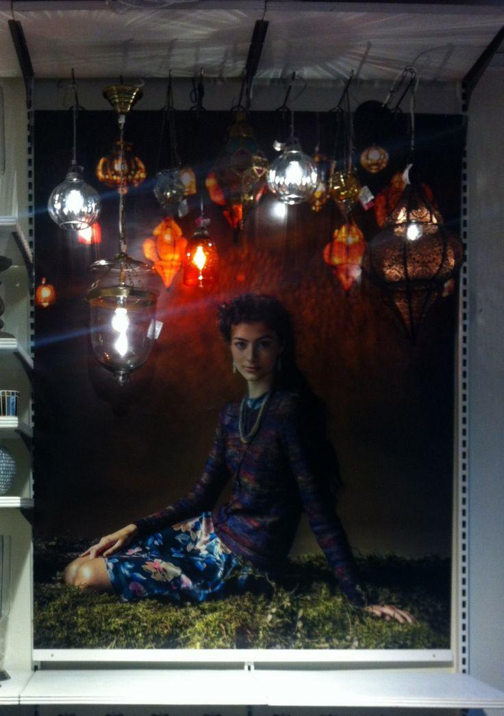 Visual merchandiser. INDISKA Sweden. exposure I made.