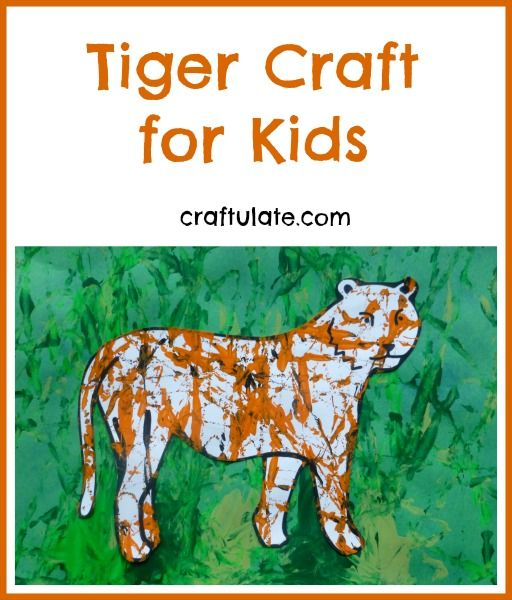 This tiger craft uses marbles and paint to create the tiger's stripes. A great craft to go alongside The Tiger Who Came To Tea book.