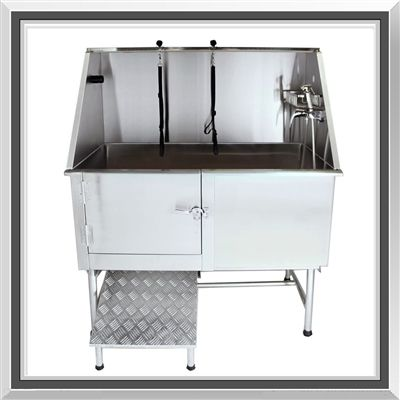 Flying Pig 50u0027 Professional Stainless Steel Pet Tub With Ramp Is Designed  To Handle The