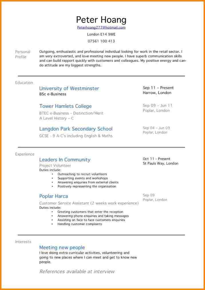 first time job resume examples for with students example template sample