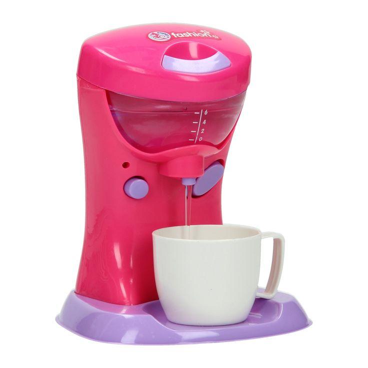 Koffiezetapparaat met licht en geluid. Vul het reservoir met water, zet het koffiezetapparaat aan en maak een heerlijk kopje koffie. Het kopje is los te schroeven van het apparaat en los te gebruiken. Afmeting: 13,5 x 11,5 x 11 cm - Koffiezetapparaat met Licht en Geluid BT