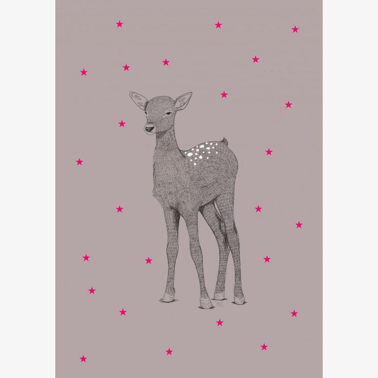 Minimel Little Darling Deer (Petite Biche) artwork - assorted sizes (A3 and A2) | room to decorate | scandinavian and vintage designed homewares - online shop