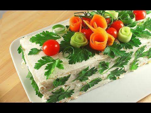 Бутербродный Торт Сэндвич / Соленый Торт без Выпечки