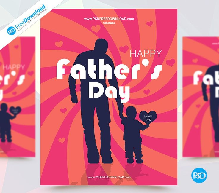 A large sized Free Happy Fathers Day Flyer Template PSD Download. Layered PSD file you can easily change texts, content, images, objects and color. We would like to present to your attention our new PSD flyer template Father's Day. You can use all of our editableflyer templates PSD. Fully layered PSD document.