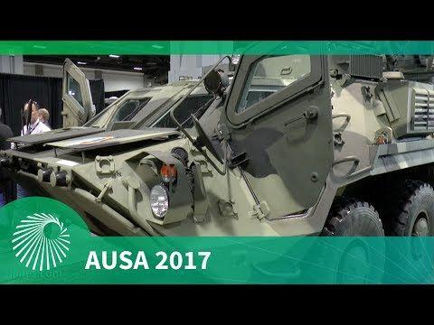 (75) AUSA 2017: BTR 4E Armoured Personnel Carrier - YouTube