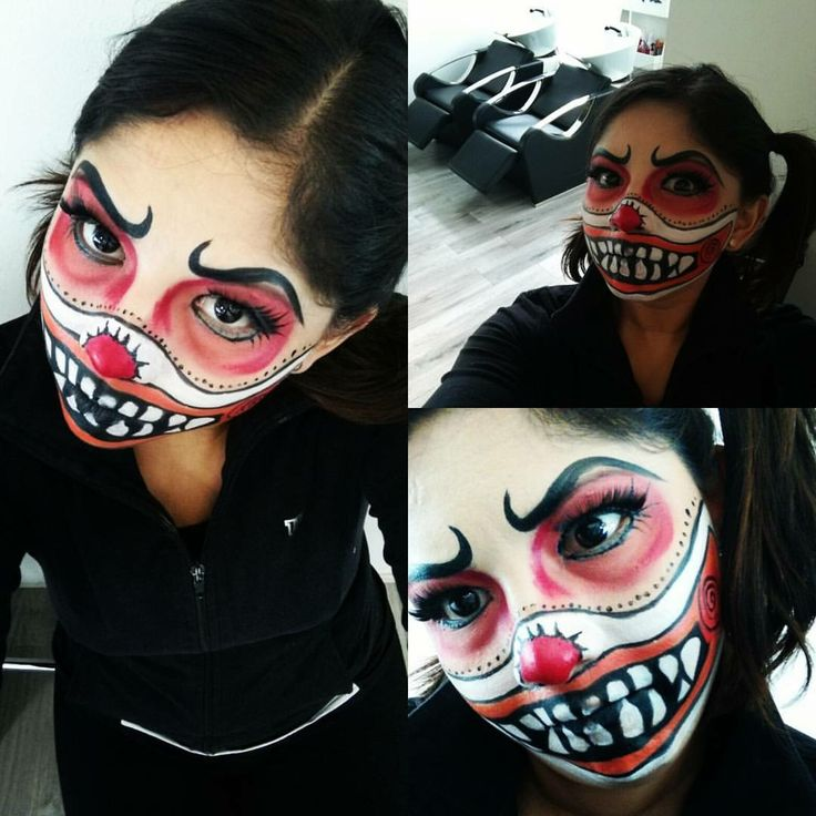 Face painting de Payasa macabra para halloween