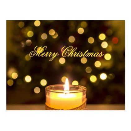 #Christmas Candle Message Mail To Address Postcard - #Xmas #ChristmasEve Christmas Eve #Christmas #merry #xmas #family #kids #gifts #holidays #Santa