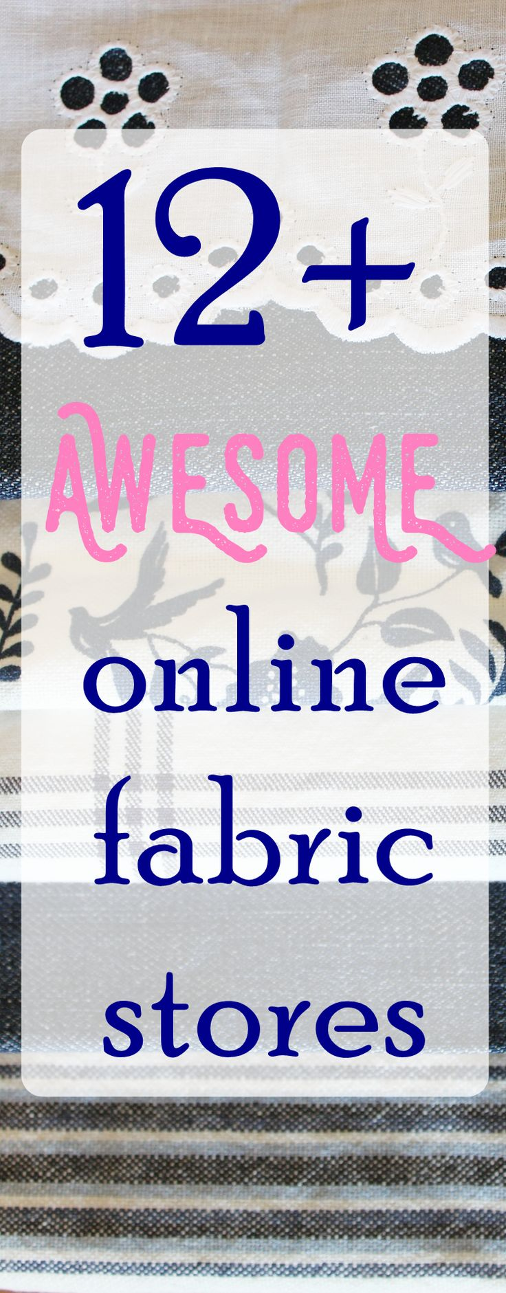 25+ best ideas about Online Fabric Stores on Pinterest ...