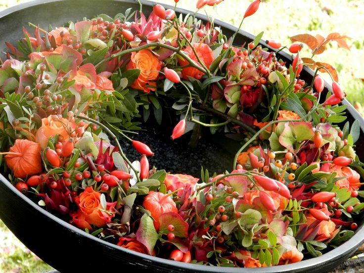 fresh fall wreath - frischer Herbstkranz