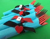 Mad Hatter Tea Party Cutlery: 8 Sets of Mad Hatters Tea Pary Inspired Cutlery, Alice in Wonderland