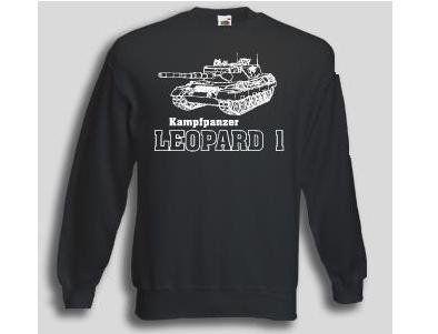 Pullover Leopard 1  Pullover Kampfpanzer Leopard 1. Der Leopard 1 Pullover ist in den Größen S-XXL erhältlich. Auf dem Pullover ist der berühmte Leopard 1 Kampfpanzer der deutschen Bundeswehr abgebildet. / mehr Infos auf: www.Guntia-Militaria-Shop.de