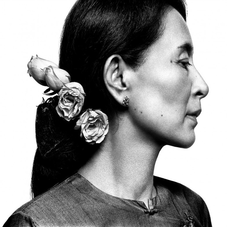 Platon's stunning portrait of Burmese dissident Aung San Suu Kyi for TIME Magazine