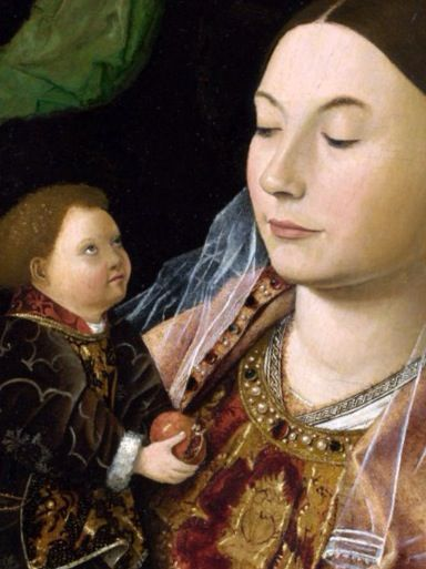 Dude? Detail by Antonello da Messina