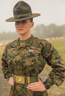 """Sgt. Stevie Cardona Oscar Company, 4th Recruit Training Battalion Joined Marine Corps in September 2007 Became a DI in September 2014 Military Occupational Specialty: Administrative Specialist Hometown: Daytona Beach, Fla. """"I became a drill instructor to help change women's lives. The Marine Corps drastically improved my lifestyle, and I want to see that for other women."""" (Photo by Lance Cpl. Vaniah Temple)"""