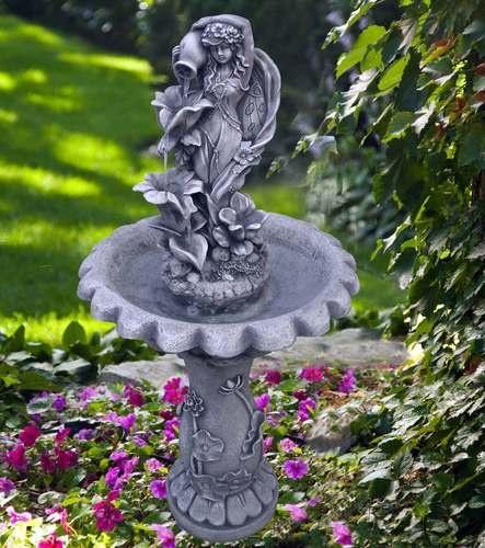 fairy solar water fountain feature - Solar Water Fountain