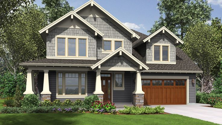 Amenity Rich Nw Craftsman Plan With Small Footprint And