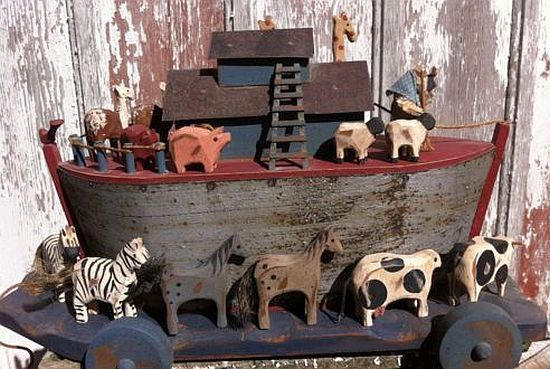 Noahs Ark, American Folk Art by Millwood Toy Co.