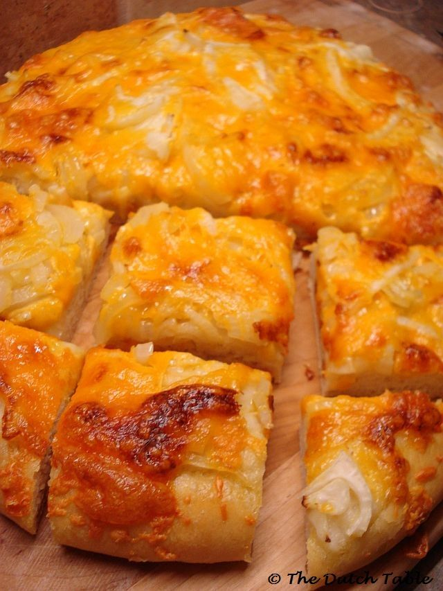 The Dutch Table: Kaas-Uien Brood (Dutch Cheese Onion Bread) RECIPE ON SITE