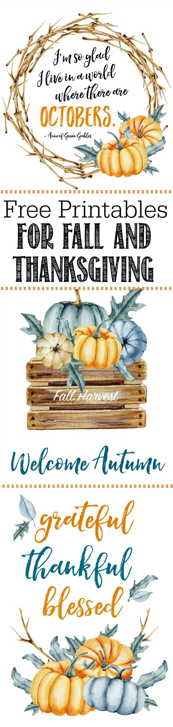 Free Thanksgiving and Fall Printables