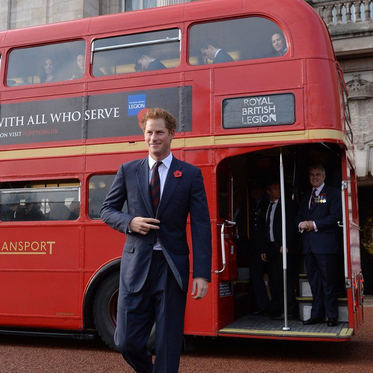 Pin for Later: Prince Harry Takes the Bus to His Latest Royal Engagement