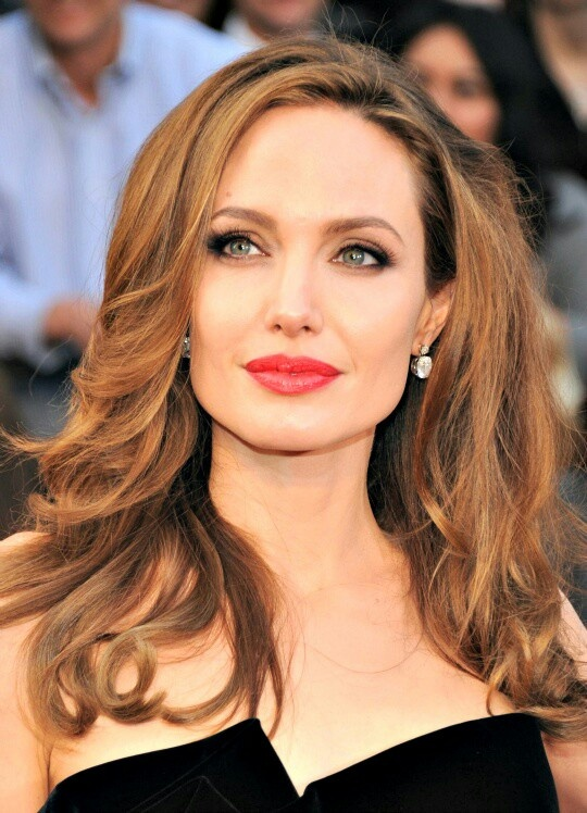 Hair Color Amp Makep Colors Angelina Jolie Brown Hair Blue
