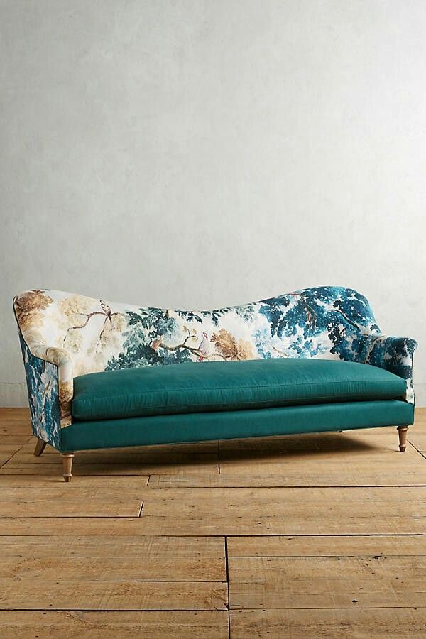 Sofa With Print Back And Solid Seat Furniture Sofa Design Furniture Design