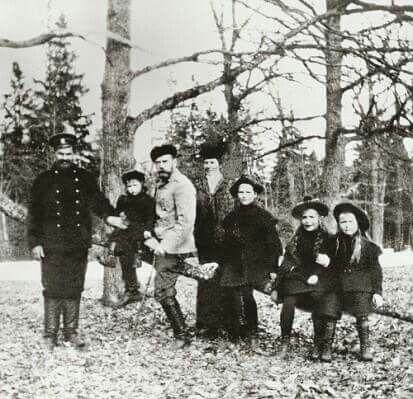 Tsar Nicholas II with family.