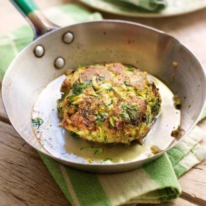 These colourful grated courgette burgers are packed with flavour.