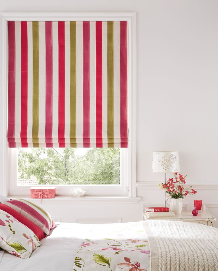 Roman blinds a contemporary but luxuriously dressed-up feel...