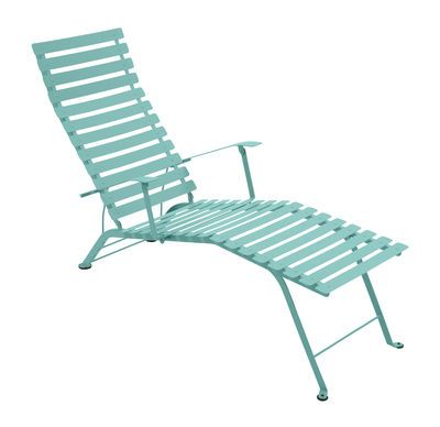 Bistro Reclining chair Laguna blue by Fermob - Design furniture and decoration with Made in Design