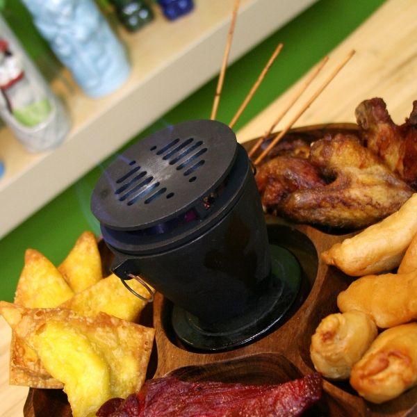 Mini Hibachi Stove Grill For Pu Pu Platters - Retro Planet