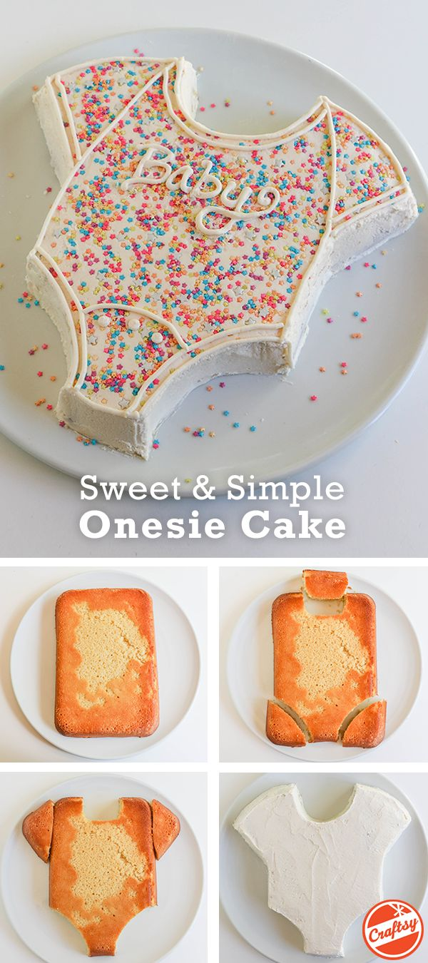 Onesie Cake Tutorial: Easy Baby Shower Cake