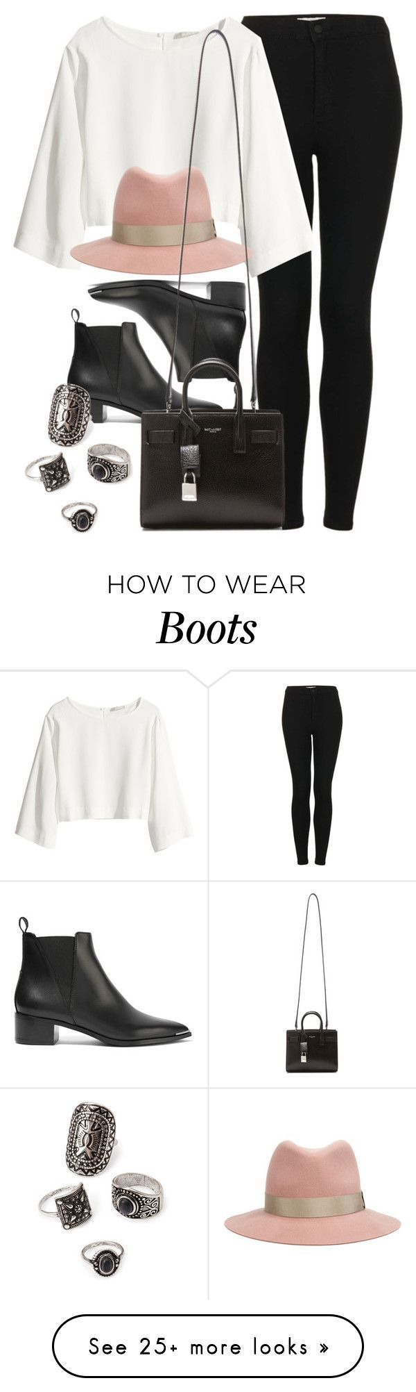 """""""Style #10584"""" by vany-alvarado on Polyvore featuring Topshop, H&M, rag & bone, Acne Studios, Yves Saint Laurent and Forever 21"""