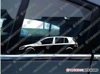 2x Car Silhouette sticker - VW Golf Mk6  GTi, GTD, TDi 5-DOOR