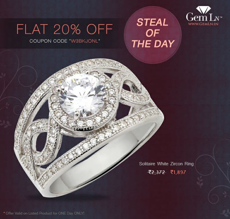 Go ahead, surprise your girlfriend with an elegant 925 Sterling Silver Solitaire White Zircon Ring!  Offer valid TODAY only!