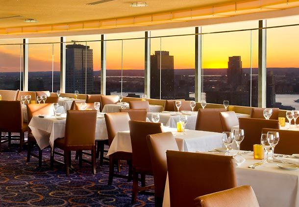 The View Restaurant - New York Marriott Marquis - has a gorgeous view of NY and an incredible food....