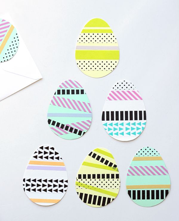 DIY easter cards with washi tape