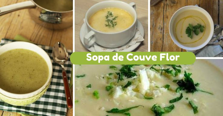 Receita de Sopa de Couve Flor - http://topreceitasfaceis.com/receita-sopa-couve-flor/